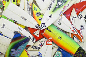 Herbie Fletcher Salvages Broken Surfboards in His 'Wrecktangles' Series