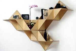 The T.SHELF Modular Shelving System Contorts to Decor Needs