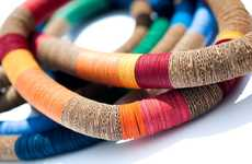 Colorful Cardboard Accessories - Creazioni Zuri Creates Statement Recycled Paper Jewelry Pieces