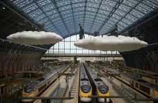 Dreamy Train Station Sculptures