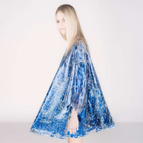 Tin Foil Dresses - Aina Beck Uses Shimmering Textiles To Make These Metalic Gowns