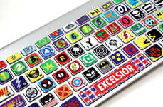 Superhero Laptop Stickers - 'Killer Duck Decals' Makes a Powerful Cartoon MacBook Keyboard Skin