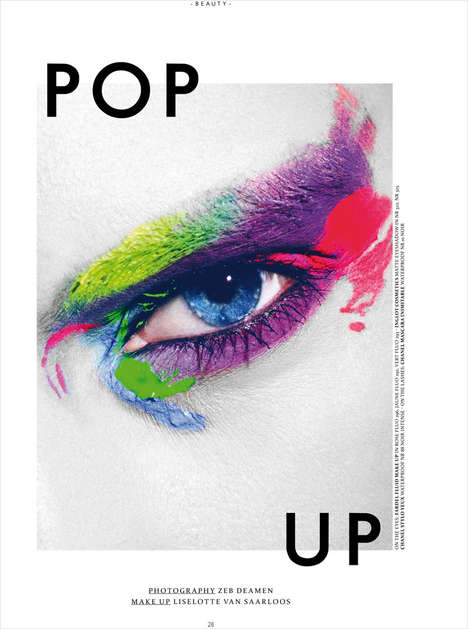 Painterly Cosmetic Close-Ups - The Pop Up Prestage Editorial is Artfully Depicted