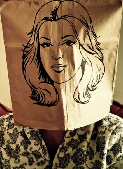 Disposable Face Sacks - This Paper Bag Head Covering Features Beautifully Illustrated Portraits
