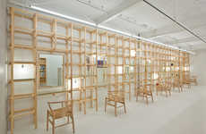 Timber Trellis Parlors - The end...Link Salon is Furnished with Built-In Beam Features