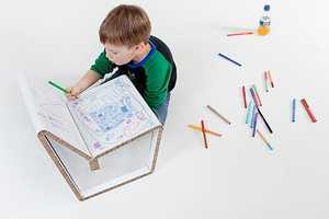 Kids Can Draw Designs on the Kenno Recycled Cardboard Chair