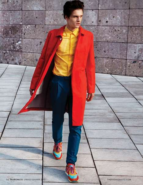 Couture Color Block Captures - Color Fever by Jay Schoen Features the Best of Ferragamo This Season