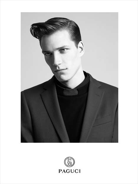 Haute Coifed Campaigns - The Paguci Fall/Winter 2013 Campaign Features a Debonair Florian Van Bael