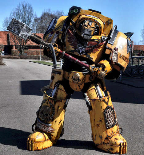 Hulking Walking Tank Costumes - This Incredible Warhammer 40K Costume is a Hulking Achievement