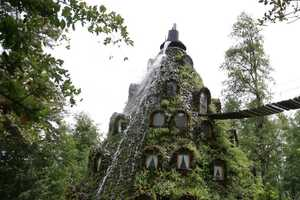 The Magic Mountain Lodge in Huilo-Huilo is Fairy Tale Inspired