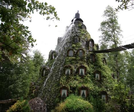 Hobbit Inspired Travel Retreats - The Magic Mountain Lodge in Huilo-Huilo is Fairy Tale Inspired