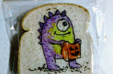 Dad-Decorated Sandwich Bags