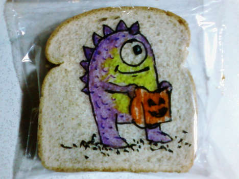 Dad-Decorated Sandwich Bags - This Amazing Dad Makes Sharpie Drawings on His Kids