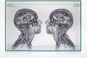 Etched Glass Designs by Angela Palmer Look Like 3D Sketches of CT Scans