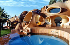 The Palais Bulles by Antti Lovag Explores Curvilinear Construction