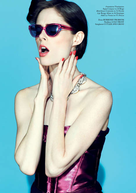 Coco Rocha for Glass Spring 2013