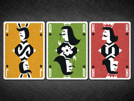 mustache playing cards