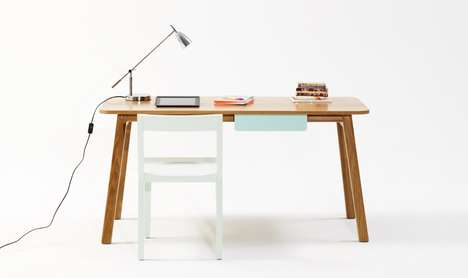 navy desk by jardan