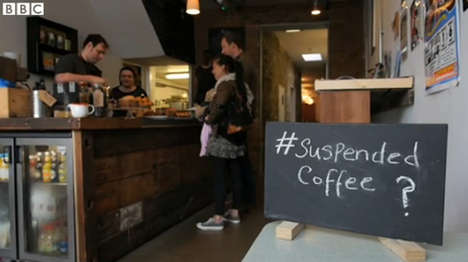 Charitable Caffeine Movements - Pay It Forward by Purchasing a Suspended Coffee in Certain Cafes