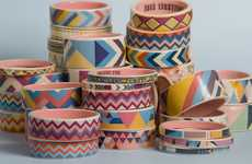 Painted Pottery Bangles