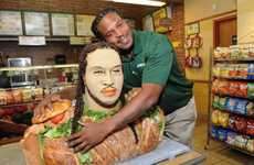 Subway's Jarvis Jones Food Sculpture is the Ultimate Sports Tribute
