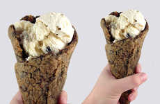 Cookie Ice Cream Cones - These Freshly Baked Cones are the Newest Way to Enjoy Ice Cream