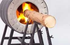 Log-Fueled Flame Ovens