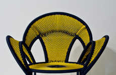 Vividly Woven Seating