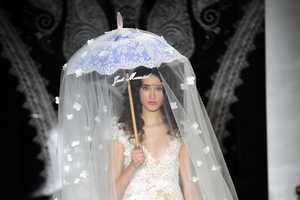 Reem Acra Bridal Shows Quirky Veils for Spring 2014