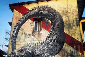 Reptiles, Birds and Rodents are the Focus of ROA's Brand New Street Art