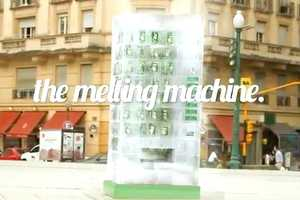 The 7UP Vending Machine is Made from Blocks of Ice That Melt