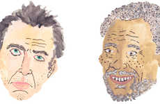 Illustrated Celeb Portraits - Benjamin Grossblatt Depicts Caricatures of Famous People