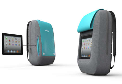 Tablet-Integrated Knapsacks - The iPad Backpack Serves as a Communicative Link to Motorists