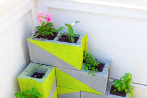 This DIY Activity Turns Big Blocks into Chic Outdoor Decor