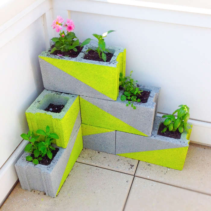 Upcycled Concrete Planters