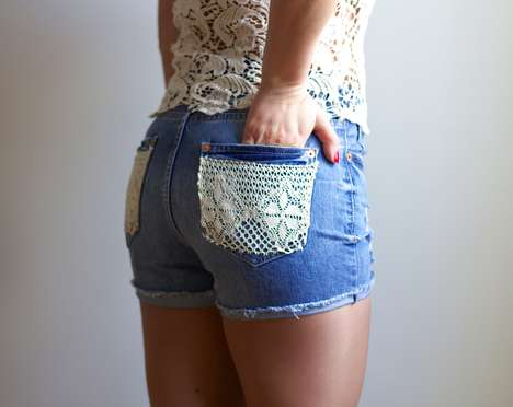Lace-Accented Shorts