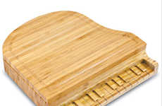 Musically Shaped Cheese Boards - This Bamboo Set is Sure to Impress Your Guests at Your Next Soiree