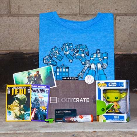 Geeky Subscription Gift Boxes - LootCrate Sends Out Nerdy Mystery Boxes Per Month to Members