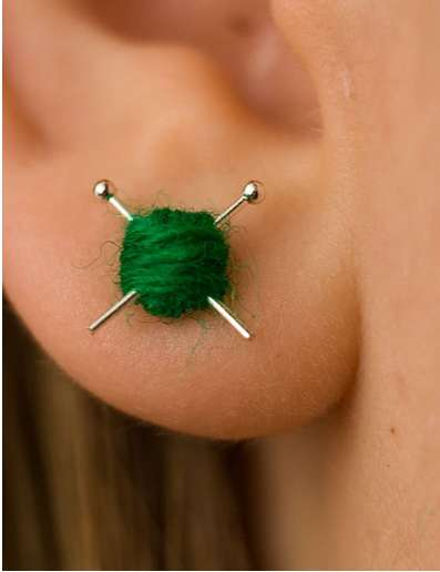 Knitting Earrings