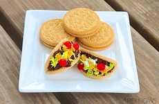 Cute Cinco De Mayo Confections - The Mini Taco Cookies by Sandra Denneler Turns Savory into Sweet