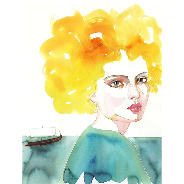 Feminine Watercolor Portraits