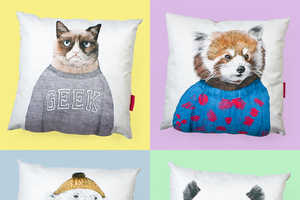 These Comfy Pillows are Printed with Cute and Cuddly Critters