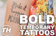 Bold Temporary Tattoos