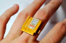 These Rings and Earrings Look Just Like Old Nintendo Cartridges