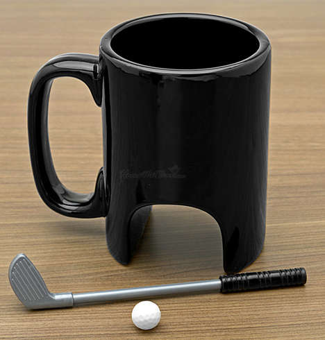 Practice Your Putting Skills with These Golfer Coffee Mugs