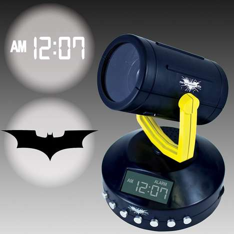 bat-signal alarm clock