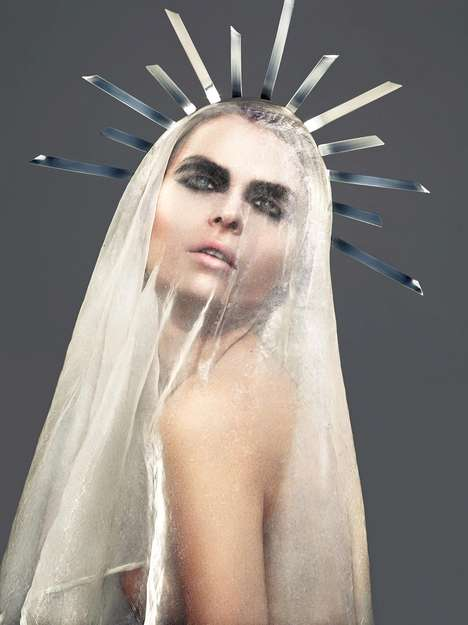 Metallic Sacrilegious Photo Shoots - The Holy Grace Photo Series by Stefan Bourson is Controversial