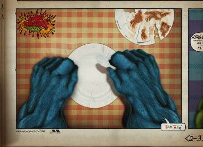 Superhero Utensil Ads - The Domingo Disposables Campaign Promotes