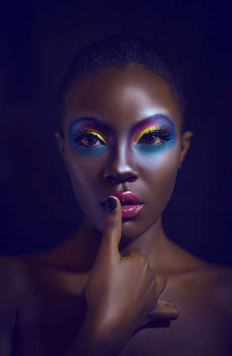 Kaleidoscopic Eyeshadow Editorials - The Karen Pang Black Beauty Image Series is Rainbow Hued