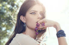 Floral-Accented Jewelry Ads